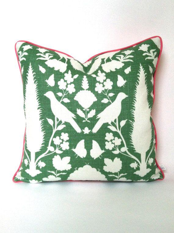 Aloe Green Chenonceau Schumacher Pillow by ThePillowStudioShop