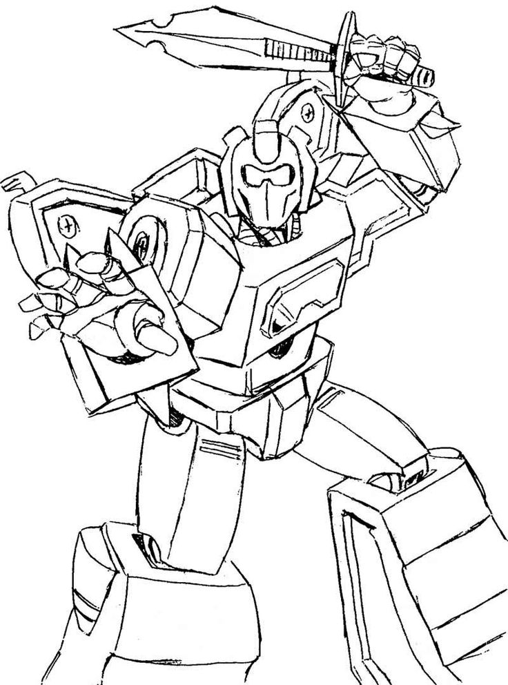 Transformers Ready To Fight Coloring Page