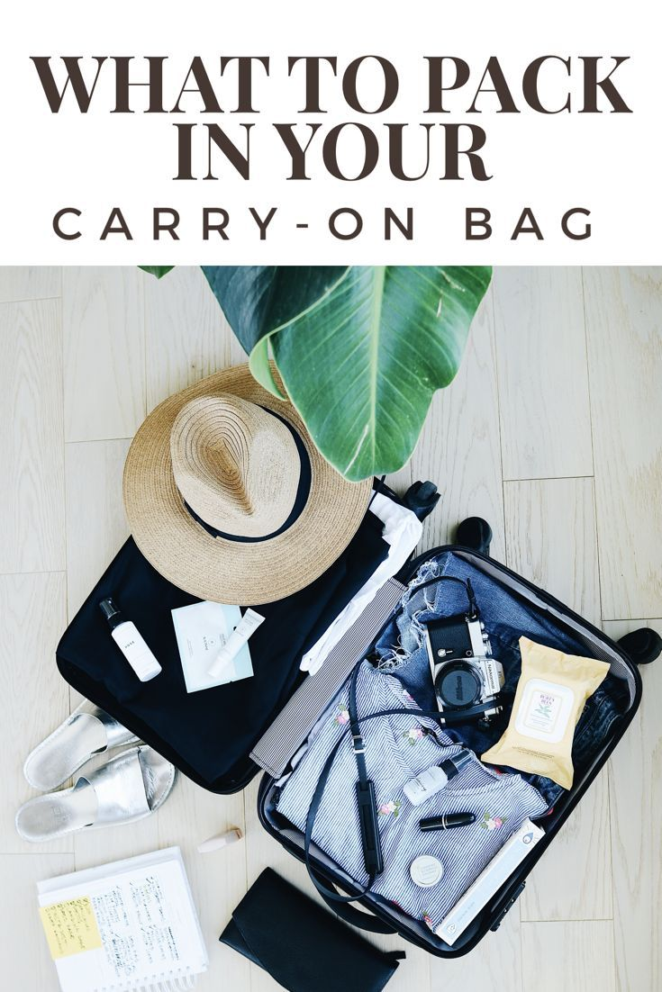 WHAT TO PACK IN YOUR CARRY-ON BAG. Over the years, I've spent more than 250 hours on planes, and along the way I've picked up a thing or two about what to pack in your carry-on bag. Make sure to check out the list below so you don't forget the essentials and can travel like a pro.