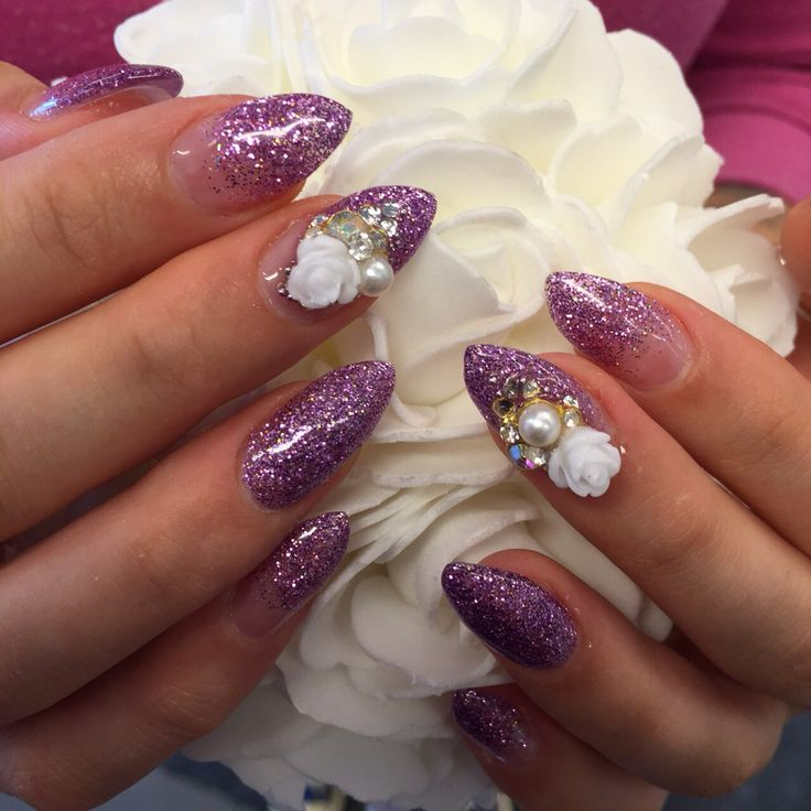 Glitter and 3d roses