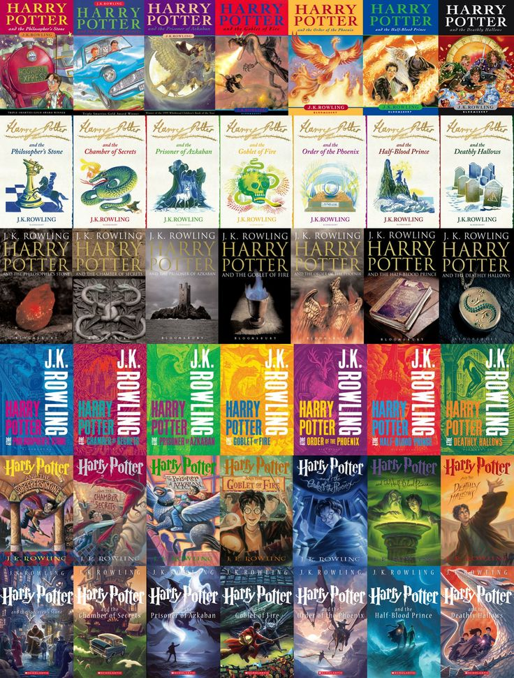 Harry Potter Book Different Covers ~ This is pretty awesome a compilation of the different