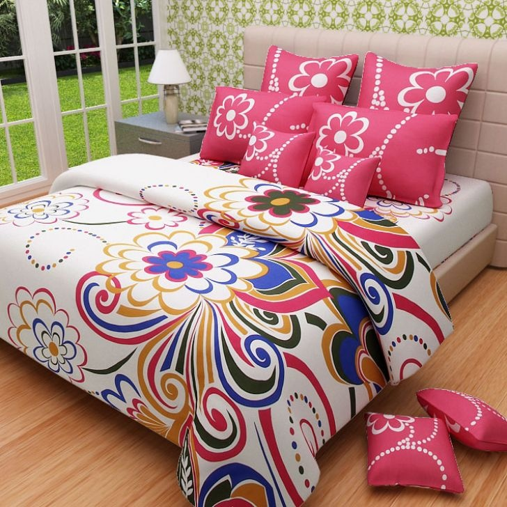 Exceptionnel MYCK King Size Bed Sheet With Two Pillow