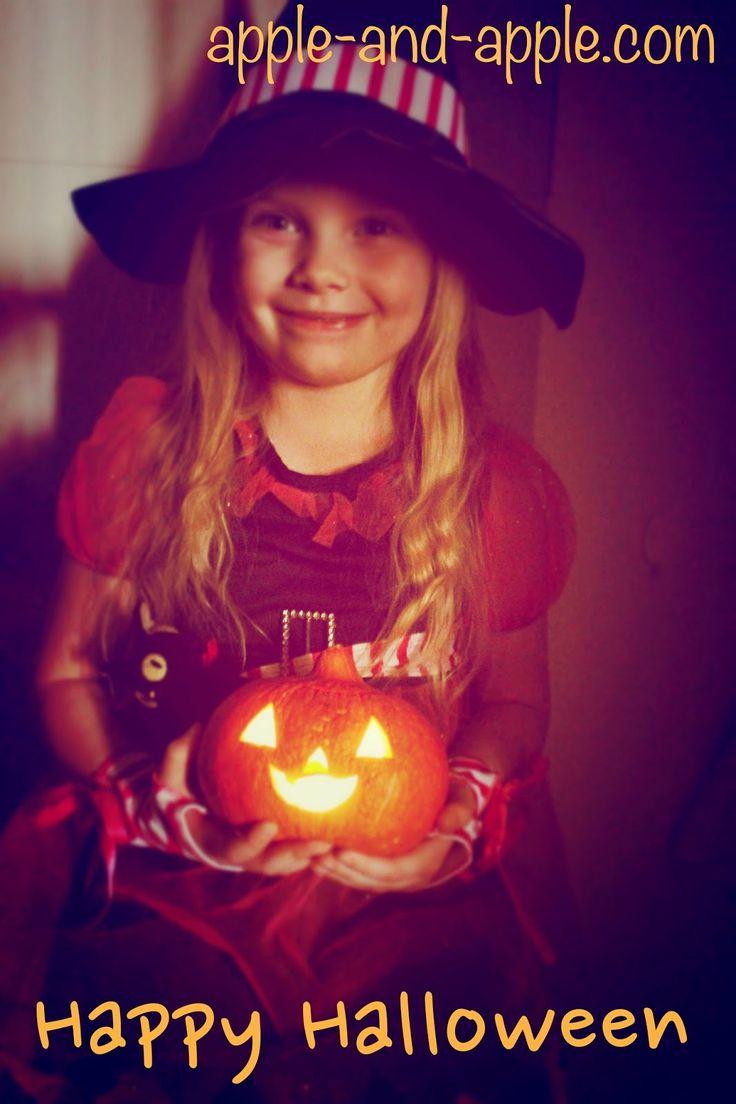 Apple and apple: Детские поделки на Halloween