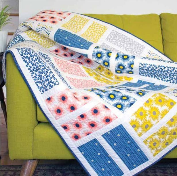 Windsor Court Baby Quilt Pattern | Journey to the English countryside with this baby quilt pattern!