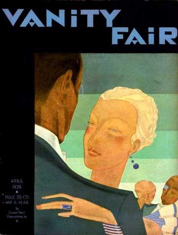 Jean Pages, Vanity Fair, April 1929    Vanity fair magazine cover.