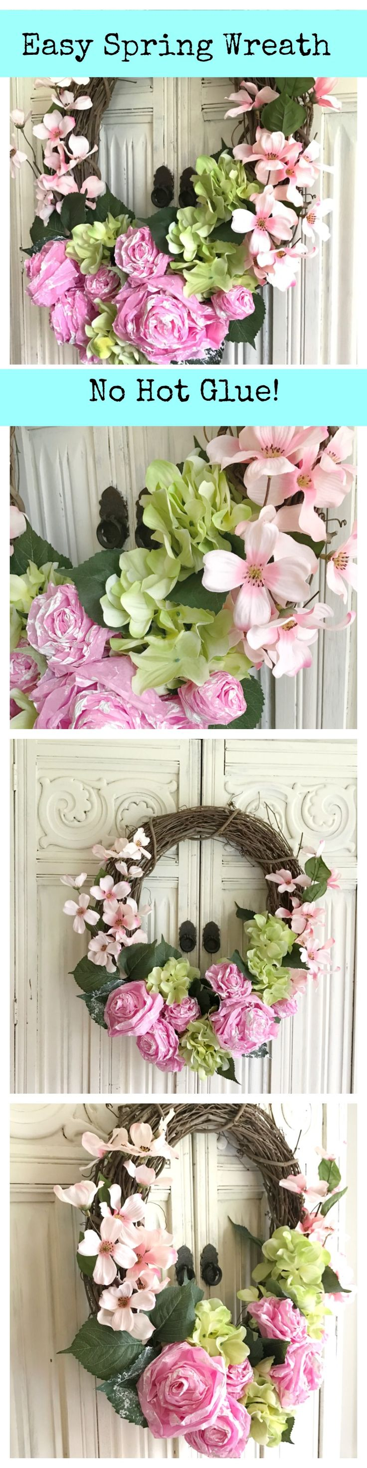 Diy paper flower wreath ruffled - Diy Tissue Paper Flower Wreath