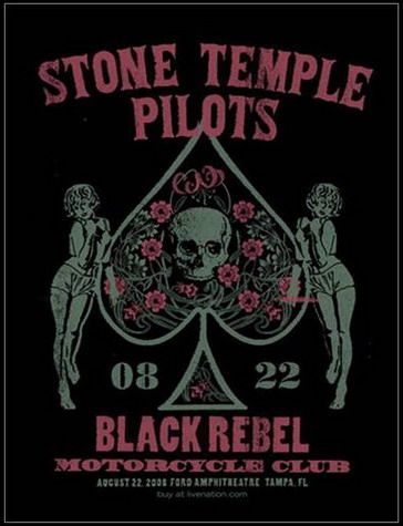 Stone Temple Pilots Concert Poster By Methane Studios Leia agora os nossos artigos sobre música grunge em http://mundodemusicas.com/category/grunge/