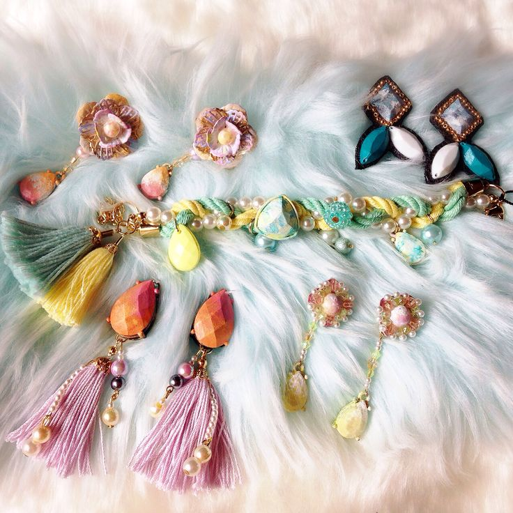earrings and bracelet created by sweetsorrow. http://sweetsorrow.stores.jp