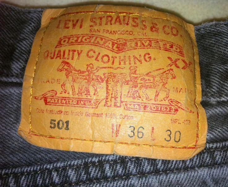 SALE!  12% OFF!!  Levis Denim Jeans 501 Regular Fit W-36 L-30 100% Cotton Denim #Levis #501