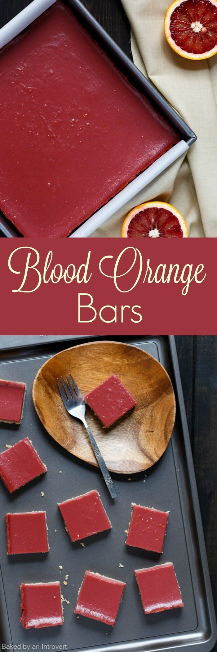 Blood Orange Bars are a less tangy version of lemon bars. They are vibrant, full of orange flavor, and rest on a buttery shortbread crust. This simple recipe will bring light to your cold winter days.