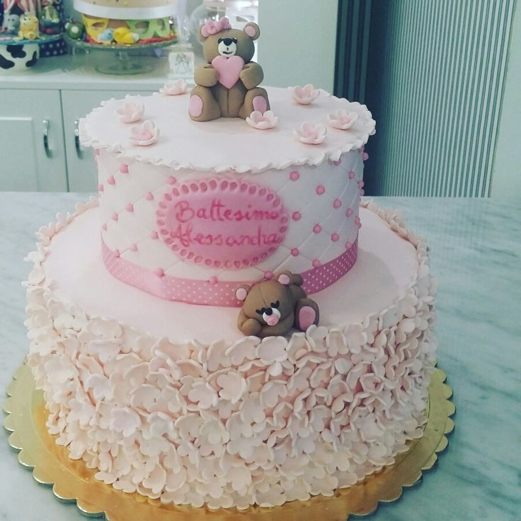 Holy baptism cake