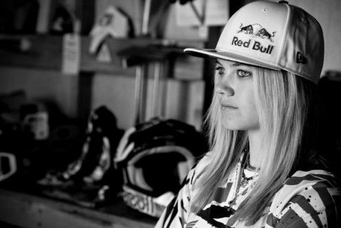 Ashley Fiolek, deaf female motocross racer proves all is possible!! badass.