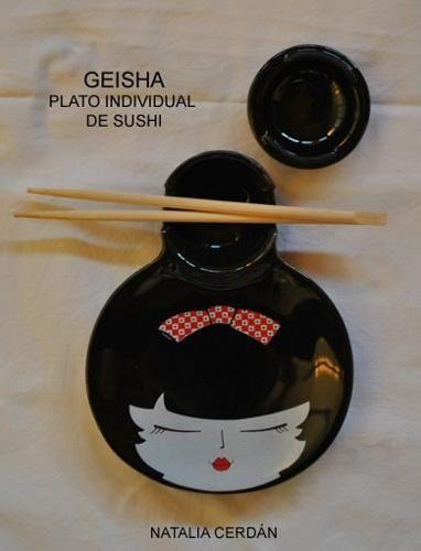 Plato Para Sushi Geisha Diseño Original - $ 175,00