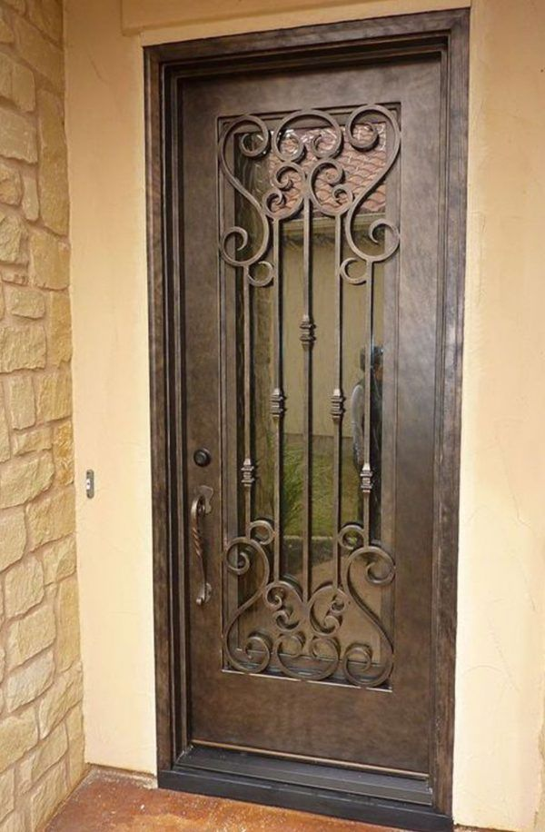 Pb 410 1 Iron Doors Steel Doors Windows By Cantera Doors Iron Doors Glass Entrance Doors Wrought Iron Doors