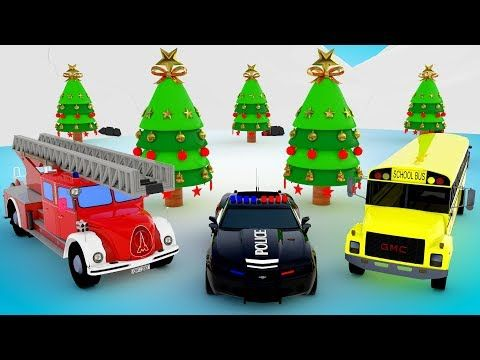 Learn Colors for Children with Emergency Street Vehicles for Kids Christmas Songs Kids Educational