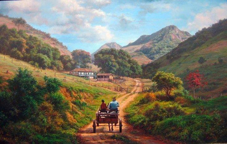 """""""Encanto da vida"""", pintura de Tulio Dias"""