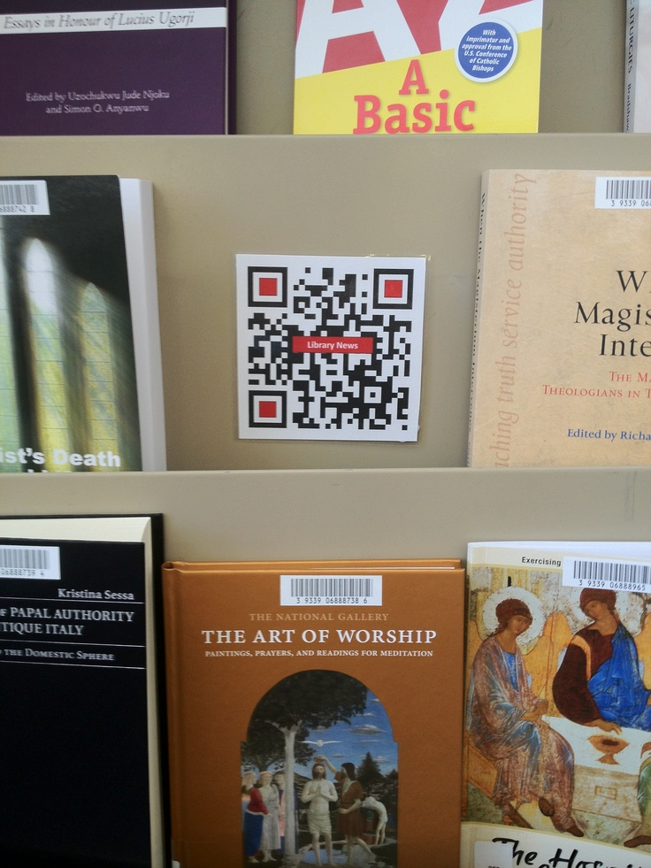 Check out the new books, but also scan the QR Code and check out the library news...