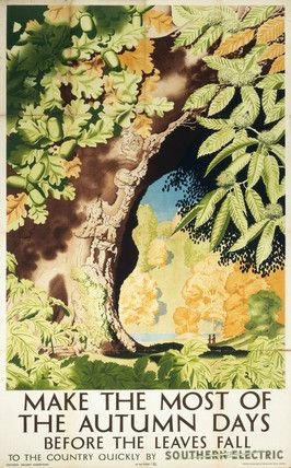 'Make the Most of the Autumn Days before the Leaves Fall', SR poster, 1939