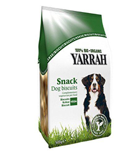 Aus der Kategorie Probiotika  gibt es, zum Preis von EUR 5,44  Vegetarische Hundekekse 500 g Yarrah<br>Hund - Bio-Kontrollstelle des Herstellers - NL-BIO-01 (SKAL 1301) - Hersteller - Yarrah Organic Petfood B.V. - Lagerung - Kühl und Trocken lagern - Futterdaten - Zusammensetzung - Getreide (Weizen 57%, mais 20%), Zucker (Glucosesirup aus Mais 7%) Öle und Fette (Sonnenblumeöl 2%), Mineralstoffe 2% aus kontrolliert biologischem Anbau - Analytische Bestandteile - Rohprotein: 8,8%, Rohfett…