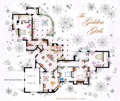 53 best Sitcom Floor Plans images on Pinterest | Architecture ...