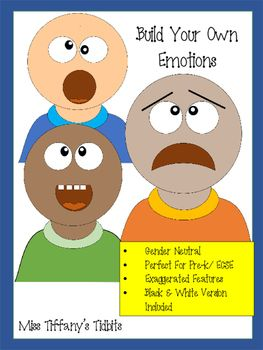 This social emotional pack is perfect for early childhood special education and preschool students. It allows students to create their own face and mix and match expressions. Product can be printed in 3 different skin tones and laminated to use over and over again.