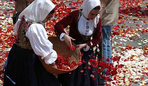 Partecipanti della Festa di Sant'Efisio del I° Maggio  a Cagliari