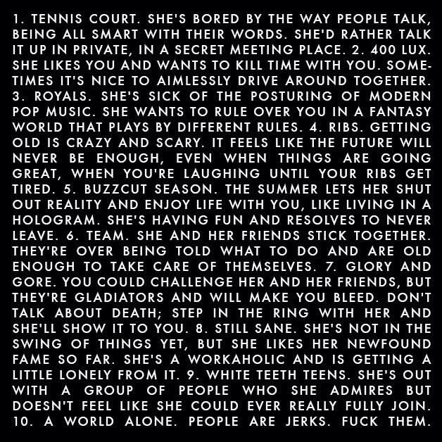 Summary of Pure Heroine! Also known as why Lorde is just awesome!
