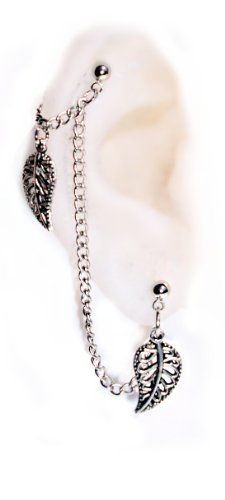 http://cheune.com/store (1)Double Piercings Chained Earrings Set