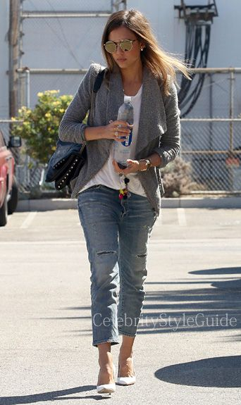 Jessica Alba wore the Citizens of Humanity Premium Vintage Corey Slim jeans when she was spotted out running errands in Santa Monica, California on September 23, 2014