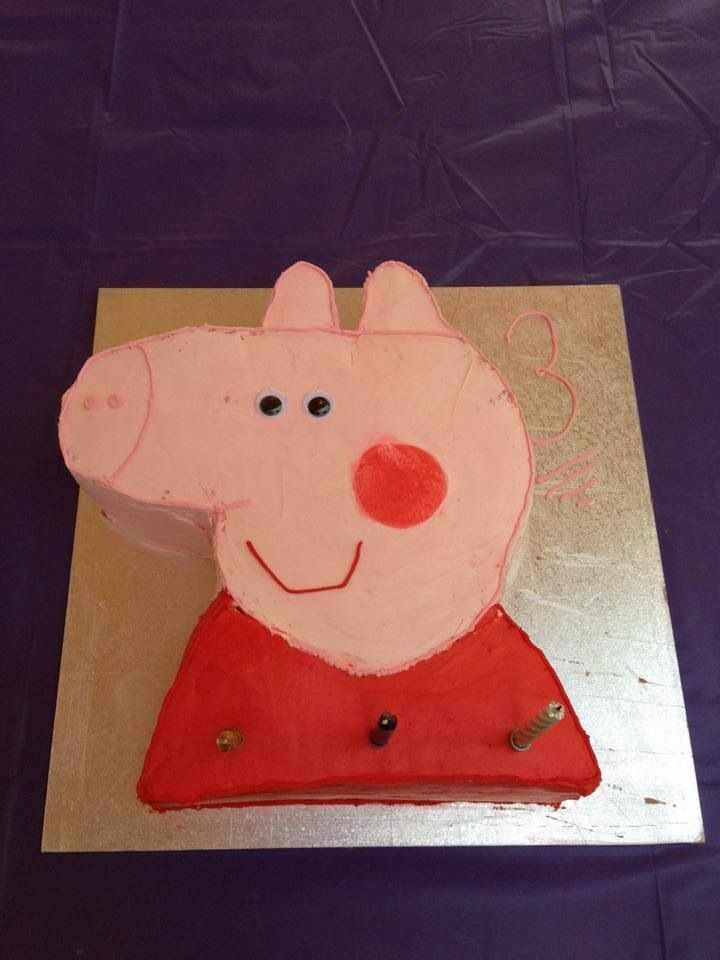 Peppy pig cake for my big girls 3rd birthday