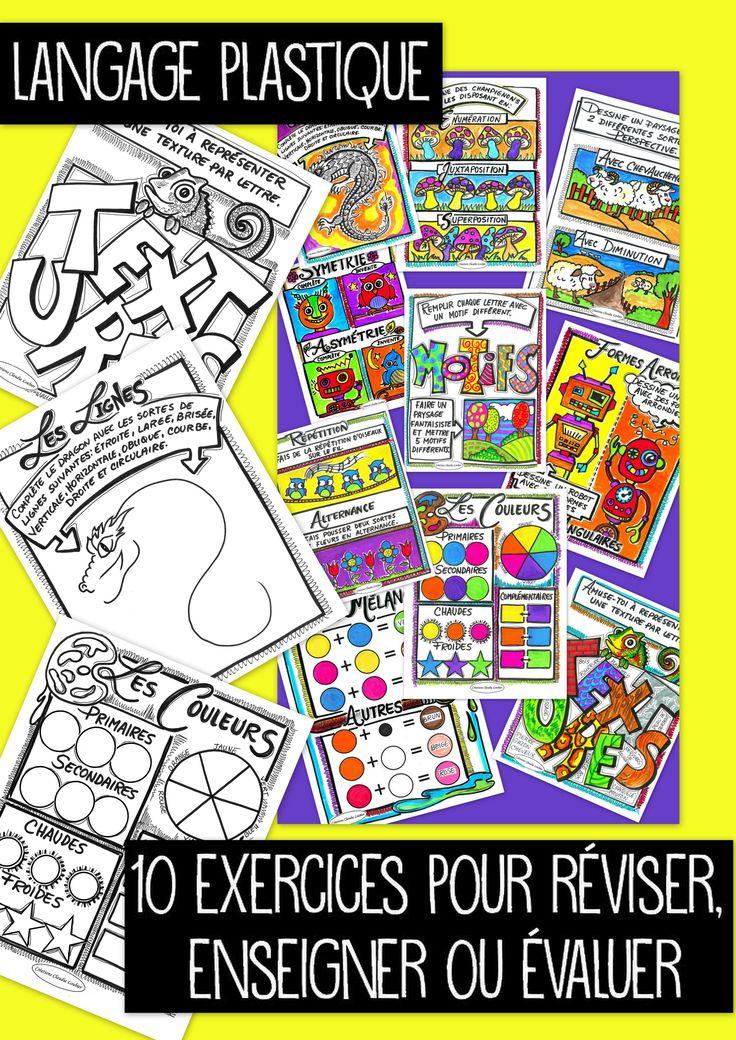 RABAIS RABAIS Voici une collection de 10 exercices, couvrant tout le langage plastique des arts au primaire. 10 feuilles reproductibles pour vos élèves. Chacune de ces feuilles peut servir pour enseigner les notions du langage plastique. Vous pouvez aussi les utiliser comme enrichissement ou évaluation. Pour chaque exercice, un feuille-réponse en couleur est proposée. Vos cours seront complets et amusants.