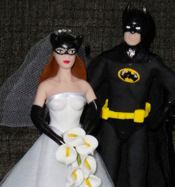 Batman Wedding cake topper- perfect!  Now all I need is to find a husband