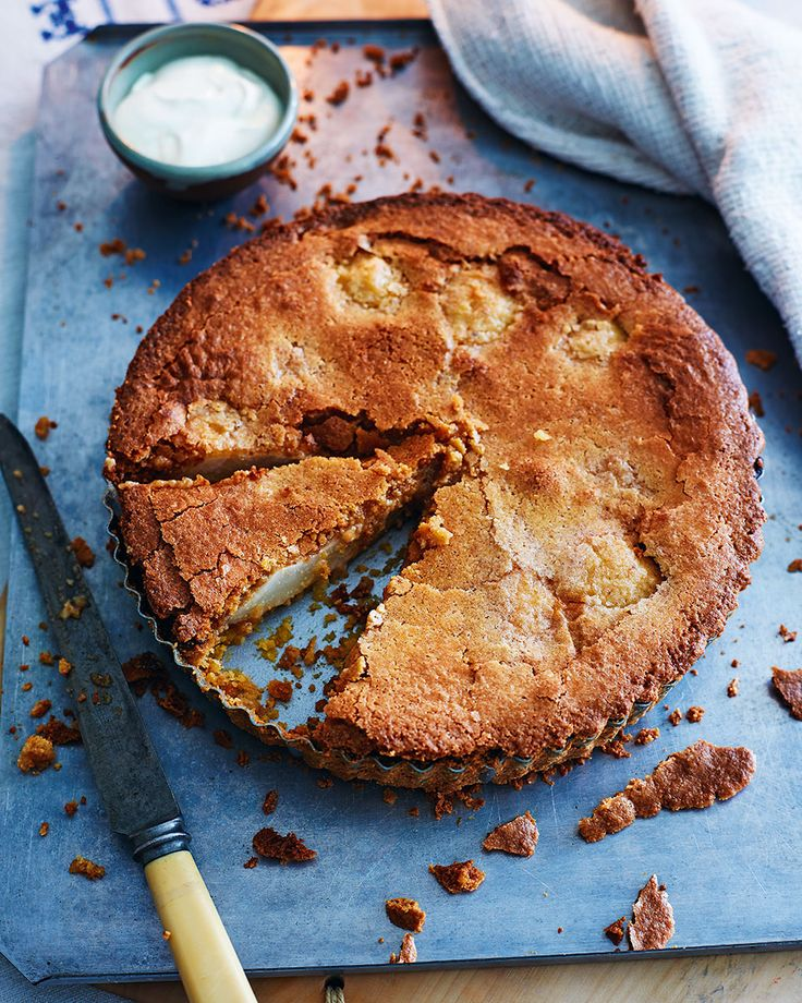 A pudding full of flavour from pears, vanilla and praline. This recipe is a winner for any dinner party dessert.