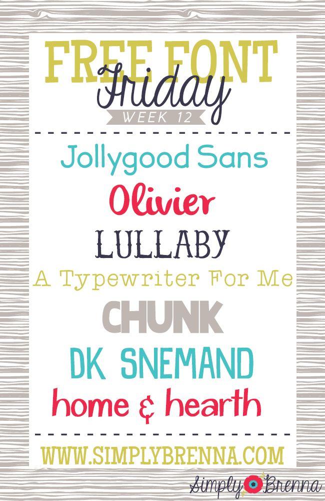 Free Font Friday   simplybrenna