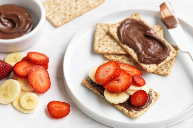 Banana, strawberry, nutella delight