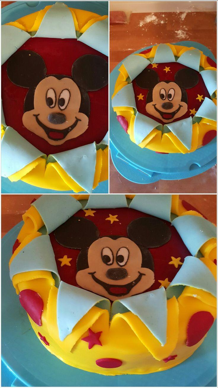 Mickey Mouse Torte für den 3. Geburtstag