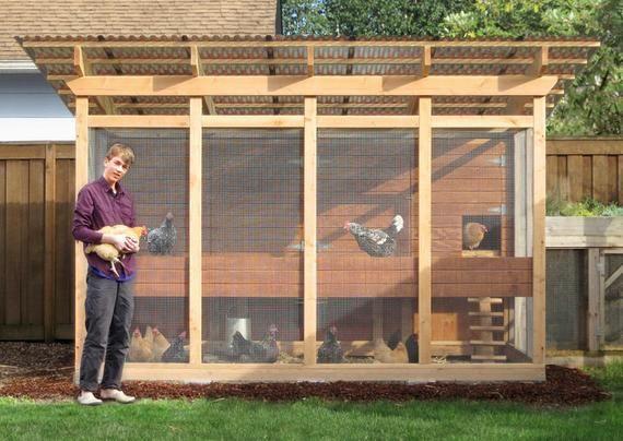 The Garden Loft Large Walk In Chicken Coop Plan Ebook Pdf Etsy In 2021 Walk In Chicken Coop Chicken Coop Designs Portable Chicken Coop