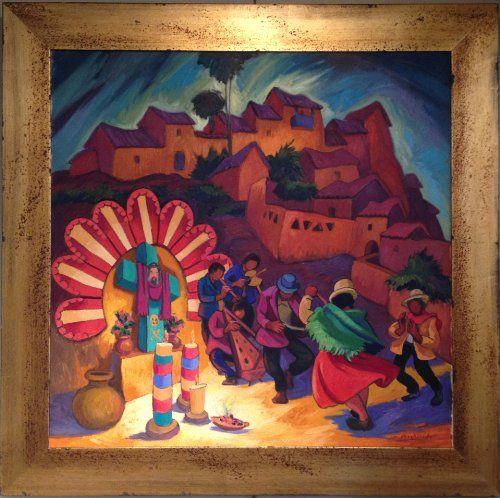 """Cruz Velacuy - Cusco"" by Peruvian painter Juan de la Cruz Machicado available at Columbine Gallery on Amazon Fine Art"