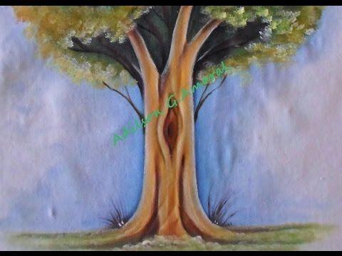 Arvore - Pintura em Tecido - YouTube