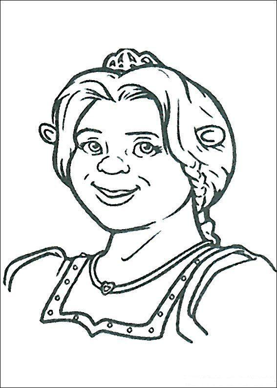 Prinses Fiona Kleurplaat Kleurplaat Prinses Fiona Shrek En