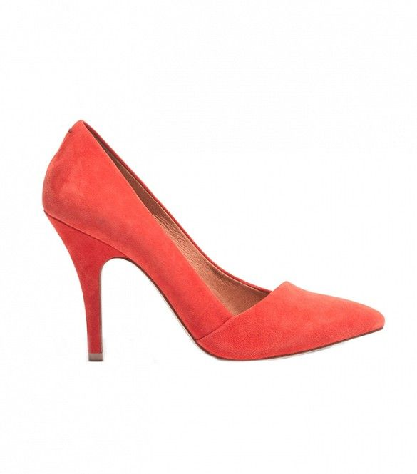 Madewell The Mira Heels in Bright Flame