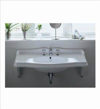 Sink Option: Whitehaus Ar864-Mnslen Wall Mount Bathroom Sink - traditional - bathroom sinks - PoshHaus