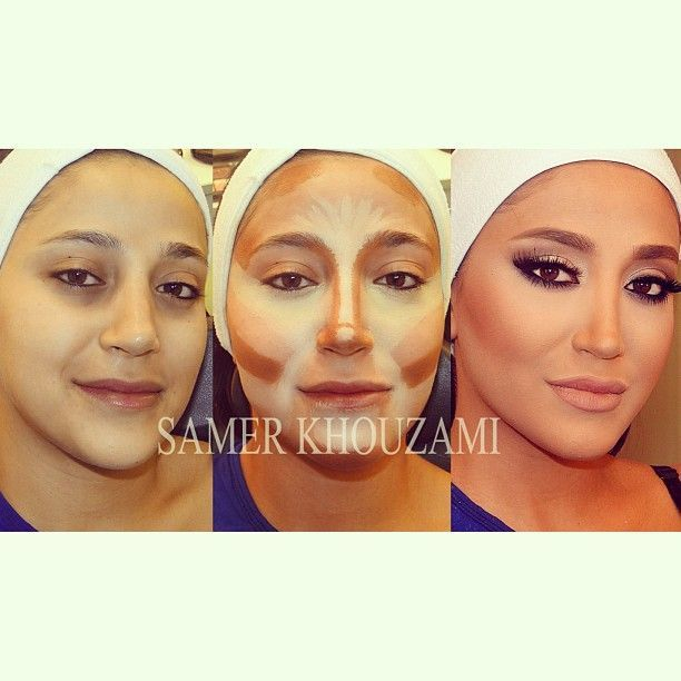 It's all about contouring and highlighting that makes people look so great. I will NEVER do my makeup like this because although I would look great at the time, If i ever got caught without makeup, I would look hideous compared to how I looked when I had make up on. Can't take that chance!!! Haha! but her makeup does look beautiful though.