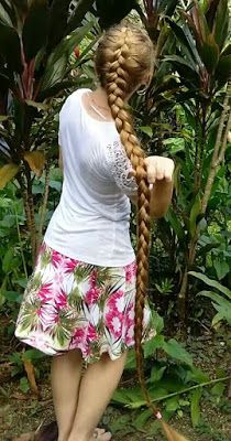 Braids & Hairstyles for Super Long Hair: Dutch Braid