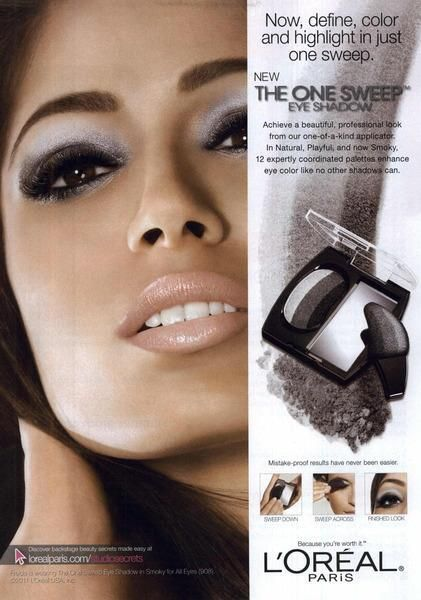 Oh No They Didn't! - Freida Pinto New L'oreal Print Ad scans