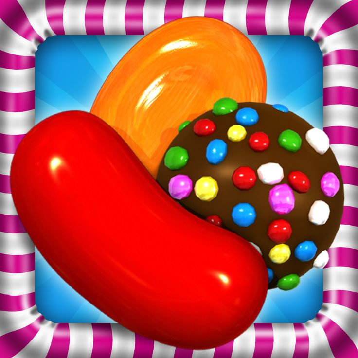 """The icon for the sweets-themed puzzle game """"Candy Crush,"""" released by King for Facebook and smartphones in 2012"""