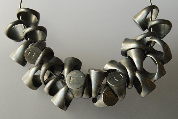 Warwick Freeman - Alphabet Rings - 2009 -  26 rings, oxidised silver