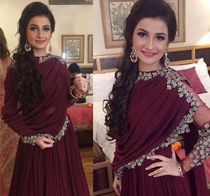 Ridhi Mehra # draped suit # Indian fashion #
