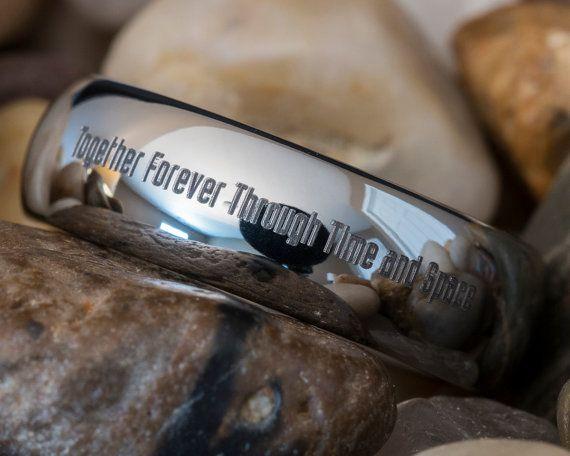 Tungstène+anneau+6mm+dôme+médecin+qui+par+FANaticCreations+sur+Etsy,+$49.00