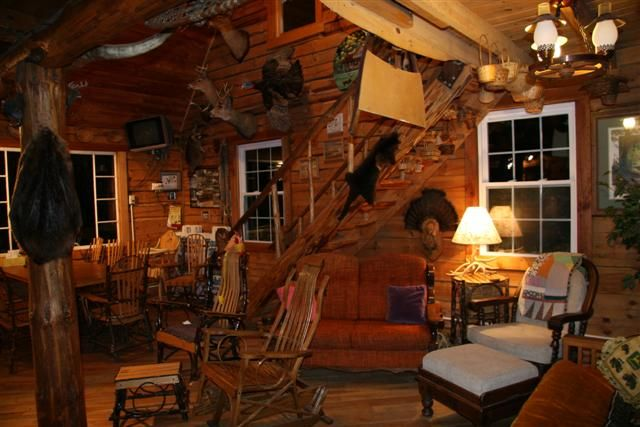 Small Cabin Interior Log Cabin Lodge Interiors Pinterest